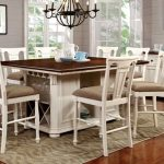 CM3199WC-PT-7PC 7 pc sabrina country style two tone cherry white finish wood counter height dining table set