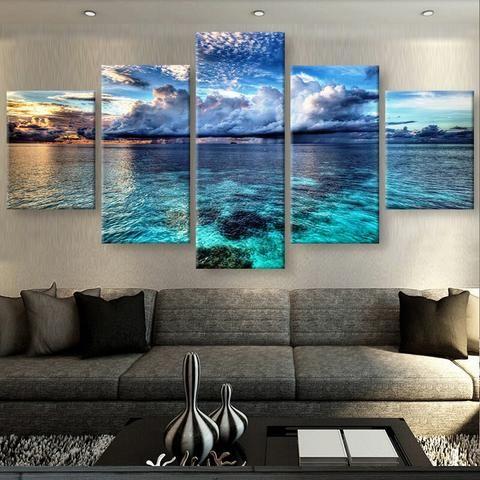 Calm Waters Canvas Set – Beach Home Decor, Ocean Decor, Coastal Home Decor