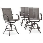Camden Balcony Height Chair (4pk) with Gray Sling - Threshold, Hammered Gray Met...