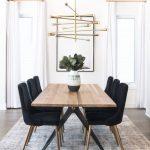 Carmen Black Velvet Dining Chair