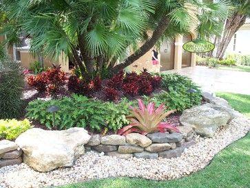 Central Florida Landscaping Ideas   Front Yard Landscape Tropical Landscape Miam…