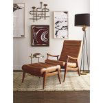 Chairs and Accents Hans Mid-Century Modern Chair and Ottoman with Exposed Wood Frame by Simple Elegance at Rotmans