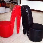 Chairs in a shoe shop or shoes im a chair shop?