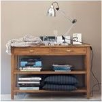 Cinnamon Console Table with Two Drawers and Shelves by Mudramark Online  - Console Tables - Furniture - Pepperfry Product