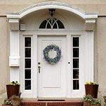 Cocotana Artificial Wreath Door 17 Inch Lavender Spring Round Home Decor - Wreath Garland Wre...