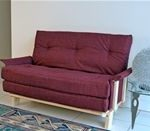 Compact Futon Sofa Bed: Full size double futon with small footprint as sofa.