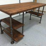 Computer Desk, Reclaimed Wood Desk, Office Desk, Table, Rustic Barnwood Table with 3 shelves