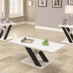 Contemporary Black & White 3-PC Table Set - Coaster 701011