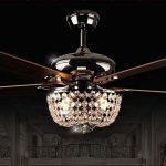 Contemporary Ceiling Fans With Chandelier - TopDekoration.com
