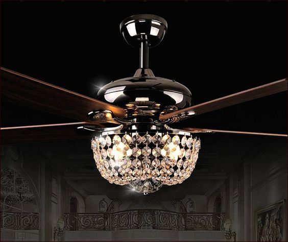 Contemporary Ceiling Fans With Chandelier – TopDekoration.com