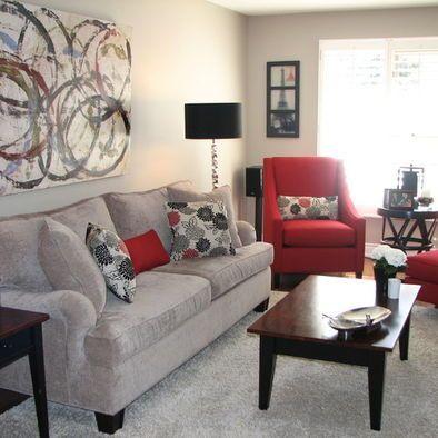 Contemporary Red Living Room Furniture Decorating Ideas – TopDekoration.com