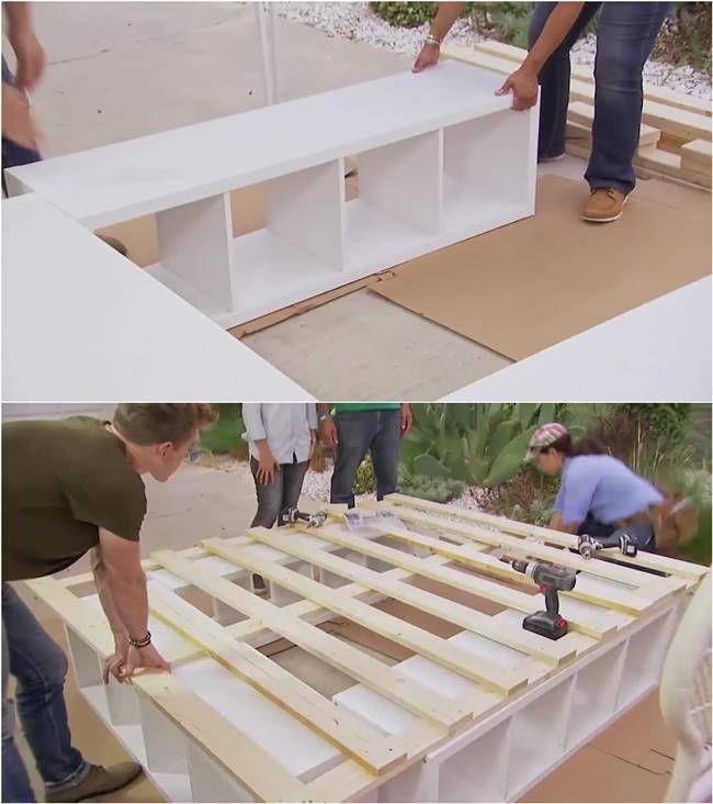Creative Ideas – How to Build a Platform Bed with Storage – pickndecor.com/furniture
