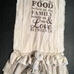 Custom Table Runner with Sayings multi ruffle ivory linen cotton canvas French Country Rustic Farmhouse  wedding Christmas Thanksgiving