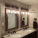 DARK WALNUT Mirror, Framed Mirror, Rustic Wood, Bathroom Mirror, Wall Mirror, Vanity Mirror Large Mirror, Brackets Mirror, Modern Decor Gift