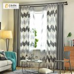 DIHIN HOME Black Bold Stripes Printed,Blackout Grommet Window Curtain for Living Room ,52x63-inch,1 Panel