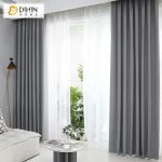 DIHIN HOME Elegant Grey Printed,Blackout Grommet Window Curtain for Living Room ,52x63-inch,1 Panel