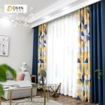DIHIN HOME Neat Triangle Printed,Blackout Grommet Window Curtain for Living Room ,52x63-inch,1 Panel