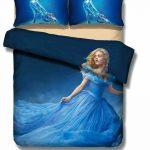 Disney Anime Bedding Set Cinderella Duvet Cover 3 Pieces Bedding Set F