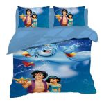 Disney Bed Set Twin Size Jasmine Princess Duvet Cover 3 Pieces Bedding