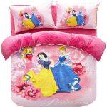 Disney Flannel Princess Duvet Cover 3 Pieces Bedding Set Full Sizes Be