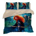 Disney Merida Princess Duvet Cover 3 Pieces Bedding Set Full Sizes Bed