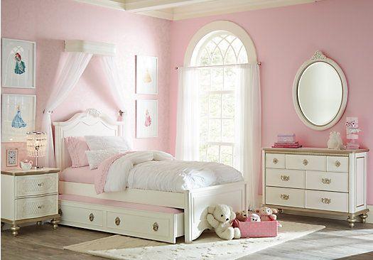 Disney Princess – Disney – Disney Princess Enchanted Kingdom White 5 Pc Full Panel Bedroom – 3516600P
