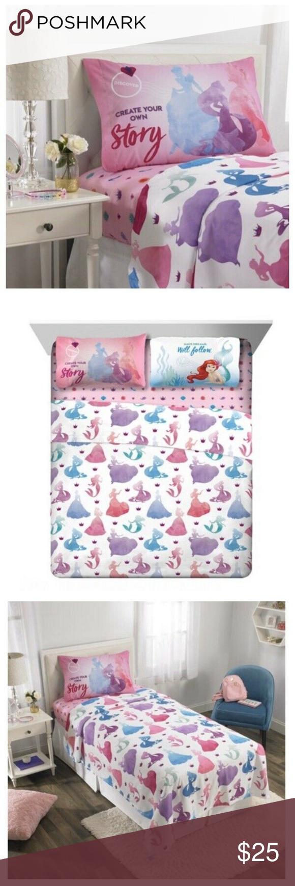 Disney Princess Full Size 4 Piece Bedding Sheets Disney Princess Full Size 4 Pie…
