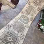 Distressed Vintage Turkish Runner, Rug Runner, Oushak Runner, Hallway Rugs, Oriental Carpet Rug, Handmade Runner, Runners, 2'7''x12'8'' ft