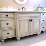 Distressed White Bathroom Vanity - TopDekoration.com