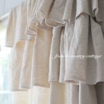 Double Ruffle Drop Cloth Panels