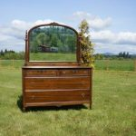 Dresser ~ Chest of Drawers ~ Chest with Mirror Antique Chest of Drawers ~ 1920-1930's Era