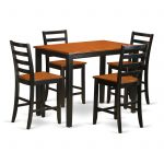 East West Furniture Yarmouth 5 Piece Ladder Back Dining Table Set