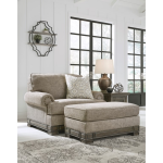 Einsgrove Chair and a Half with Ottoman by Signature Design by Ashley at Furniture Superstore - Rochester, MN