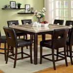 Elgin Off White Square Counter Height Table Set