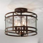 "Elwood 13 1/4"" Wide Oil-Rubbed Bronze 4-Light Ceiling Light - #65M13 | Lamps Plus"