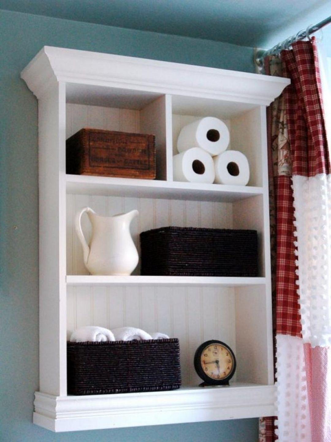 Extraordinary 15+ Easy DIY Bathroom Shelves Ideas To Increase Your Bathroom Storage