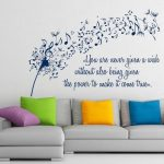 FREE SHIPPING Dandelion Wall Decals Music Quote Musical Notes Music Note Art Mural Home Vinyl Decal Sticker Living Room Interior Decor m414