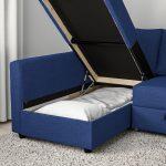 FRIHETEN Sleeper sectional,3 seat w/storage - Skiftebo blue - IKEA