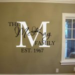 Family Name Established Date Wall Decal Vinyl Lettering Wall Words Decal Family Monogram Wall Personalized Family Decal