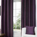 Faux Silk Eyelet Aubergine | Curtains.com