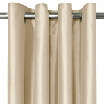 Faux Silk Eyelet Curtains - Natural | Home | George