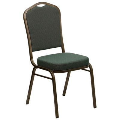 Flash Furniture Crown Back Banquet Chair in Green
