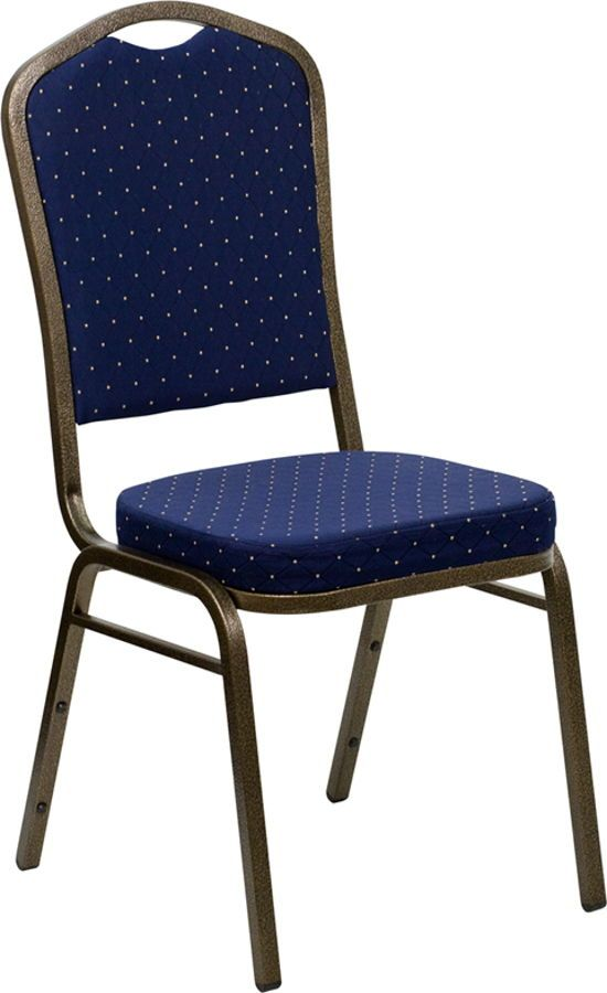 Flash Furniture Hercules Gold Navy Blue Banquet Chair