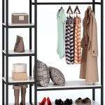 Free-standing Closet Organizer, Tribesigns Heavy Duty Clothes Closet, Portable Garment Rack with 6-tier Shelves and Hanging rod, White - Walmart.com