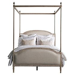 French Finial Weathered White Bed