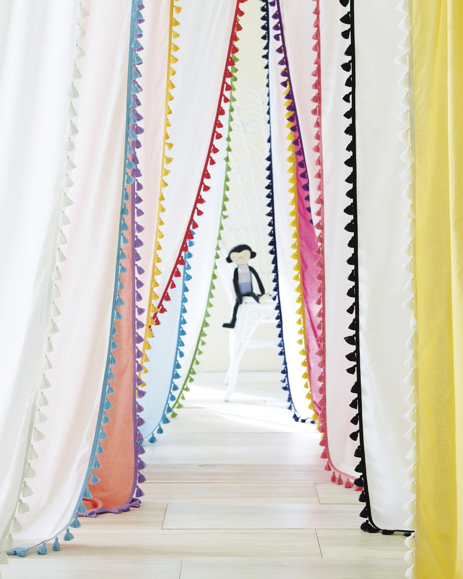 French tassel window panels – curtains – bedroom essentials – kids bedroom