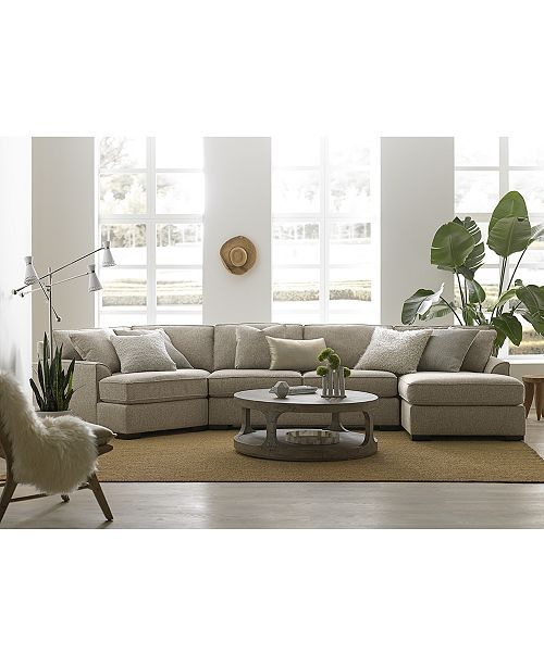 Furniture Carena 3-Pc. Fabric Sectional Sofa with Double Chaise, Created for Macy's & Reviews – Furniture – Macy's