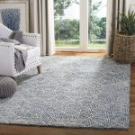 Gaither Hand-Tufted Wool Light Blue/Gray Area Rug
