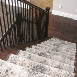 """Grand Valley Tile Co. Ltd. on Instagram: """"A stair-runner doesn't have to be a plain boring carpet! Add a punch of colour and/or pattern to  draw your eye to the stairs. Hardwood is…"""""""