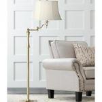 Granville Antique Brass Swing Arm Floor Lamp - #37A25   Lamps Plus